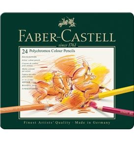 Colour Pencil Polychromos tin of 24